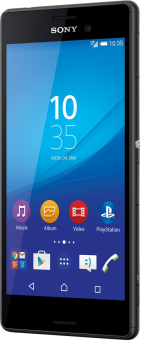 Sony Xperia M4 Agua - Android Smartphone - 8 GB - Schwarz