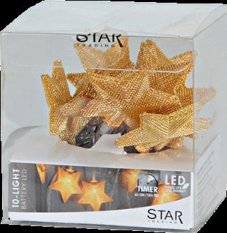 star trading star shaped net led lichterkette 135cm messing g nstig kaufen. Black Bedroom Furniture Sets. Home Design Ideas