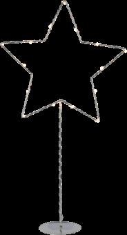STAR TRADING Sparkling star - 15x 0.03 W - Chrome