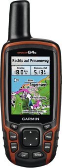 GARMIN GPSMAP® 64s - Outdoor-Handnavigation - 2.6 (6.6 cm) - Schwarz/Orange