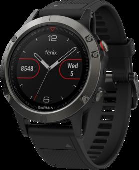 GARMIN fenix 5 - Smartwach - Mit Herzfrequenzmessung - Grau/Schwarz