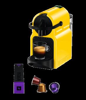 koenig nespresso maschine inissia fassungsverm gen 9 11 kapseln leistung 1260 w gelb. Black Bedroom Furniture Sets. Home Design Ideas