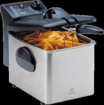 KOENIG Fry 3 - Fritteuse - 2100 Watt - Schwarz/Silber