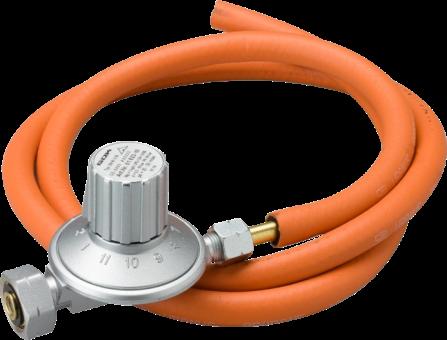 TTM 800.091 - Détendeur variable avec tuyau haute pression - 25–50 mbar - Acier inoxydable/Orange