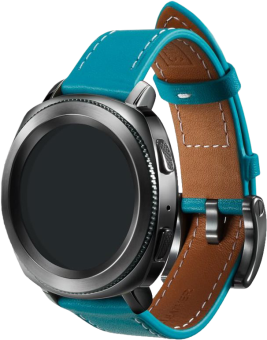 SAMSUNG Gear Sport Classic Leather - Armband - Blau