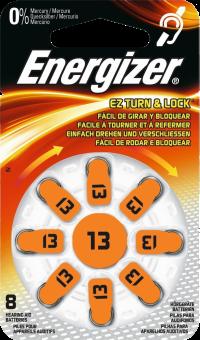 Energizer Batteria-13 per Apparecchi Acustici - 8 Pezzi