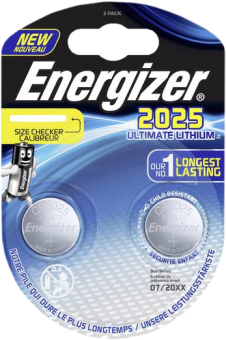 Energizer CR 2025 Ultimate Lithium - Cella a bottone - 2 pezzi