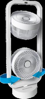 SONNENKÖNIG VIND 2 - Standventilator - 70 Watt - Weiss