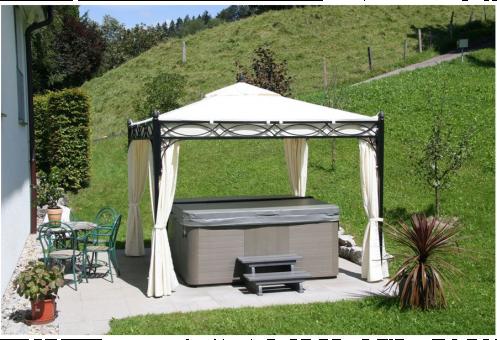 sonnenk nig pavillon rom 3 x 3 m g nstig kaufen pavillons media markt online shop. Black Bedroom Furniture Sets. Home Design Ideas
