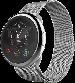 MYKRONOZ ZeRound2HR Elite - Smartwatch - Bluetooth - Silber