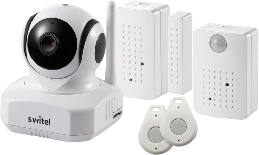 switel bsw 220 smart home security kit wifi kamera mit haus alarm sensor 720p weiss. Black Bedroom Furniture Sets. Home Design Ideas