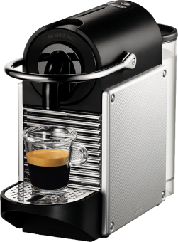 De-Longhi Pixie EN 125.s - Système de capsules Nespresso - 1260 W - Argent Machine à capsules Aluminium électrique