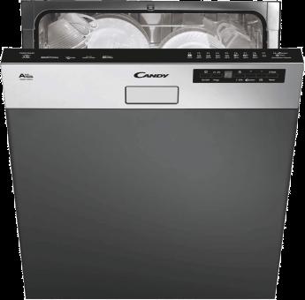 CANDY CDSM 2D62X - Geschirrspüler halbintegriert - Energieeffizienzklasse A++ - Fassungsvermögen: 16 Sets - Edelstahl