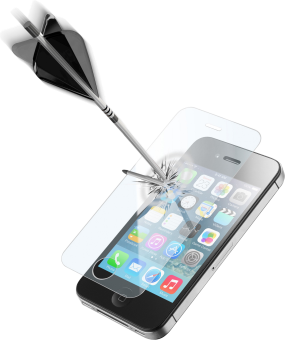 cellularline SECOND GLASS ULTRA - Schutzglass - Für Apple iPhone 4 / 4S - Transparent