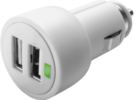 cellularline Dual USB Micro Car Charger - Blanc