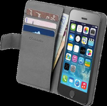 cellularline book agenda f r iphone 5 5s schwarz. Black Bedroom Furniture Sets. Home Design Ideas