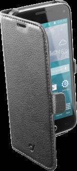 cellularline Book Essential Pocket - Étui au format livre - Pour Samsung Galaxy S5 Mini - Noir