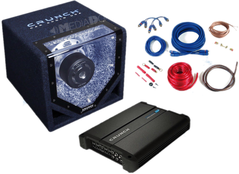 Basspack 4 canaux CRUNCH CPX 1000.4 - Haut-parleur de voiture - 1000 watts -Noir