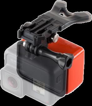 GoPro Mundhalterung + Floaty - für GoPro Hero6 / Hero5 - Schwarz/Rot