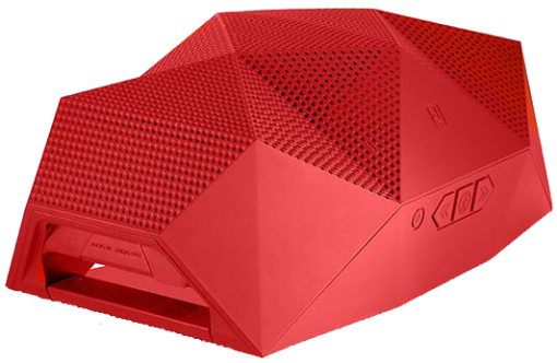 Outdoor Tech BIG Turtle Shell+Powerbank RED Haut-parleur Bluetooth (Rouge)