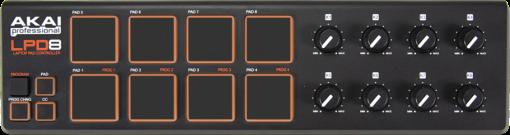 AKAI LPD8 - Laptop Pad Controller - 8 Pad sensibili alla velocità - Nero
