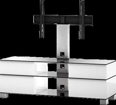 SONOROUS MD9095 - TV-Möbel - Empfohlene Bildschirmgrösse: - 37 - Edelstahl/Weiss