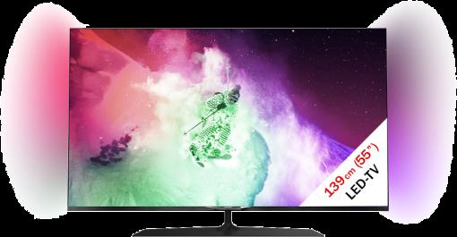 PHILIPS 55PUS7909/12, LED/LCD TV, 55, 600 Hz , Schwarz