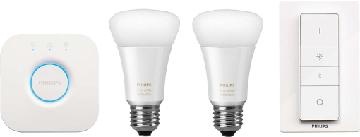 Philips Hue Starter Set - E27 avec Bridge - blanc