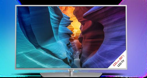 PHILIPS 50PFK6510/12, LCD/LED TV, 50, 800 Hz, silber