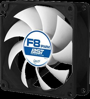 ARCTIC F8 PWM PST - Ventilatore per cabinet - 4-Pin - Nero