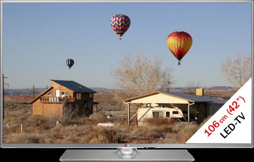 LG 42LB650V, LCD/LED TV, 42, 500 Hz, Silber