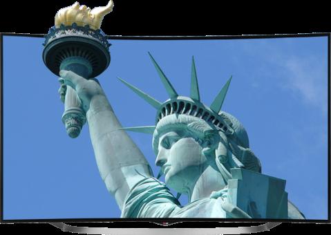 LG 65UC970V, LCD LED-TV, 65, 1000 Hz, Schwarz/Silber