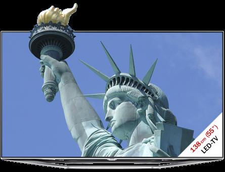 SAMSUNG UE55H7080SVXZG, LCD/LED TV, 55, 800 Hz, Schwarz