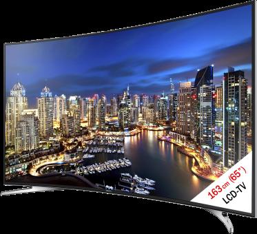 SAMSUNG UE65HU7100SXZG, LCD/LED TV, 65, 800 Hz, Schwarz