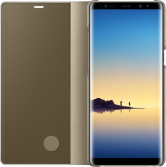 SAMSUNG Clear View Standing Cover - Per Samsung Galaxy Note 8 - Oro