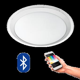 EGLO 96818 COMPETA CONNECT, Bluetooth LED-Plafoniera RGBW, bianco