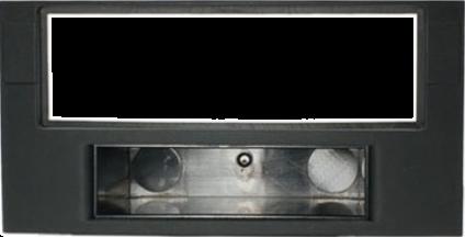 RTA Mascherina con vano portaoggetti - Per  Volkswagen Touareg / T5 - 1-DIN - Nero