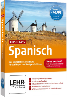 First Class Sprachkurs Spanisch 17.0, PC [Versione tedesca]