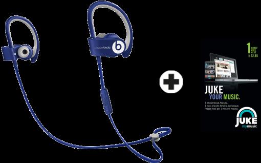 Beats by dr. dre powerbeats² Wireless, blau + JUKE 1 Monat