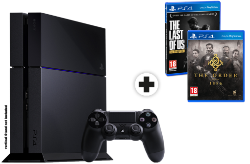 Sony PlayStation 4 500GB inkl. 2 Games