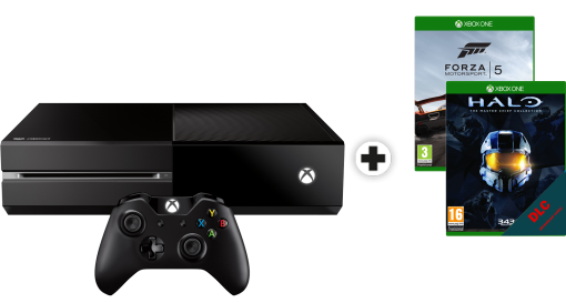 Microsoft Xbox One 500 Go incl. 2 Games (französische Version)