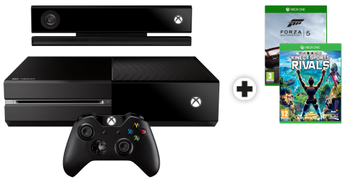 Microsoft Xbox One 500Go Kinect Bundle incl. 2 Games, französisch