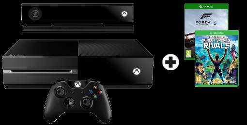 Microsoft Xbox One 500GB Kinect Bundle inkl. 2 Games, allemande