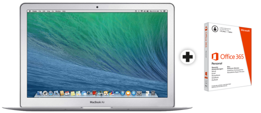 Apple MacBook Air, 13.3, i5, 4GB, 128 GB SSD + Microsoft Office 365 Personal, 1 Lizenz, deutsch
