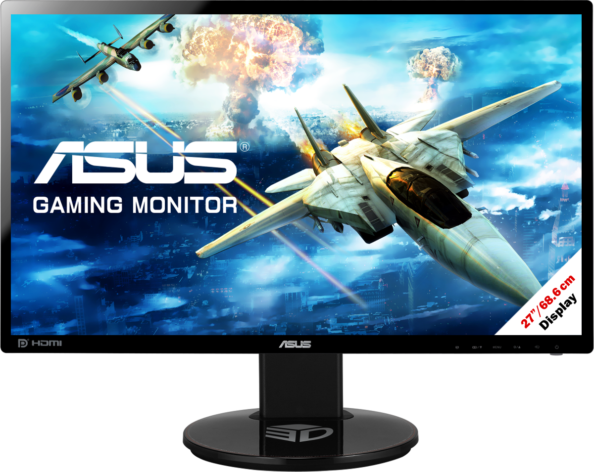 asus vg278q gaming monitor full hd display 27 68 6. Black Bedroom Furniture Sets. Home Design Ideas