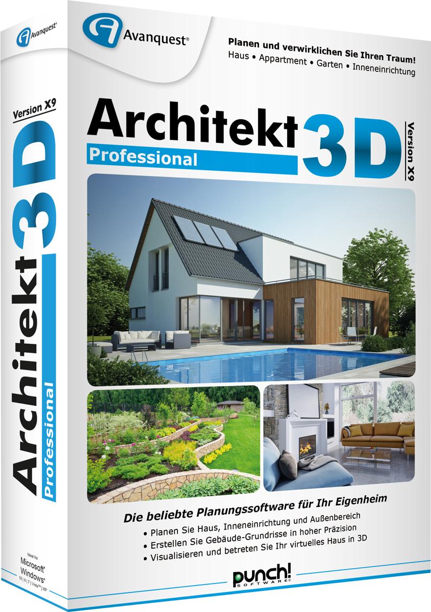 architekt 3d x9 professional pc g nstig kaufen sonstige software media markt online shop. Black Bedroom Furniture Sets. Home Design Ideas