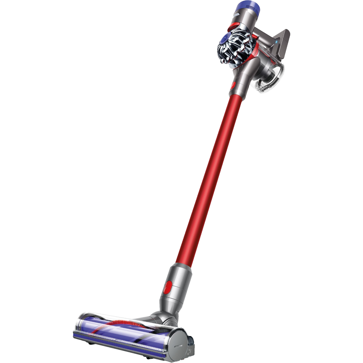 dyson v8 absolute extra aspirateur sans fil 425 watts rouge argent aspirateurs balais. Black Bedroom Furniture Sets. Home Design Ideas