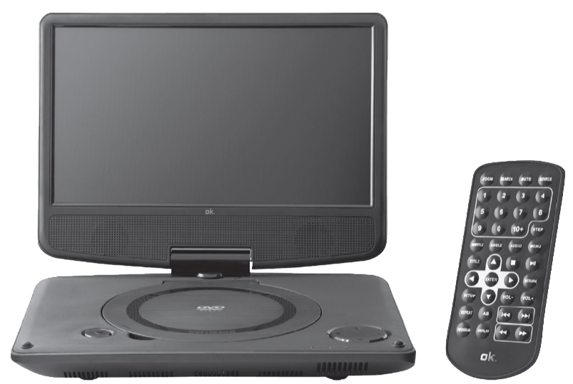 ok opd 910 tragbarer dvd player 9 lcd display. Black Bedroom Furniture Sets. Home Design Ideas