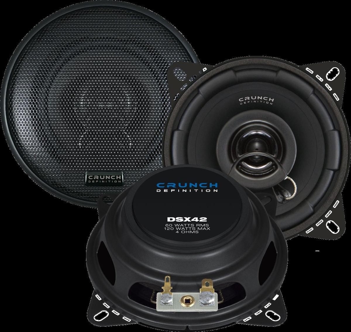 crunch dsx42 haut parleur 10 cm noir haut parleurs voiture largeur 10 acheter. Black Bedroom Furniture Sets. Home Design Ideas