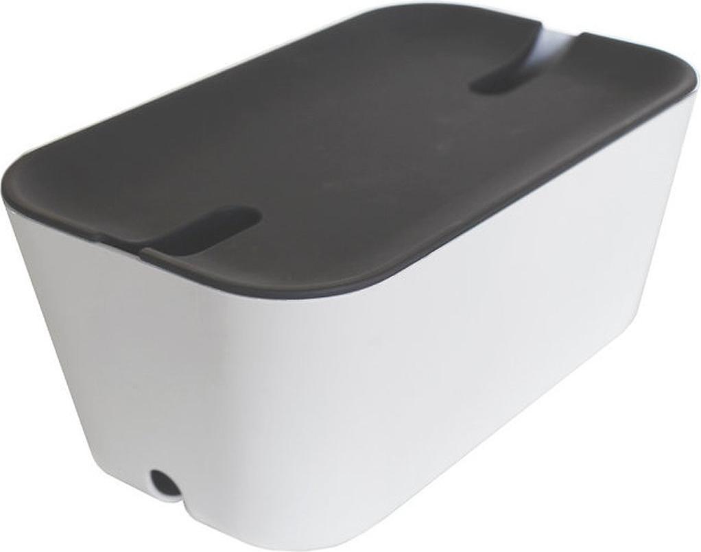 bosign hideaway cable organiser medium weiss grau g nstig kaufen kabelrollen boxen. Black Bedroom Furniture Sets. Home Design Ideas